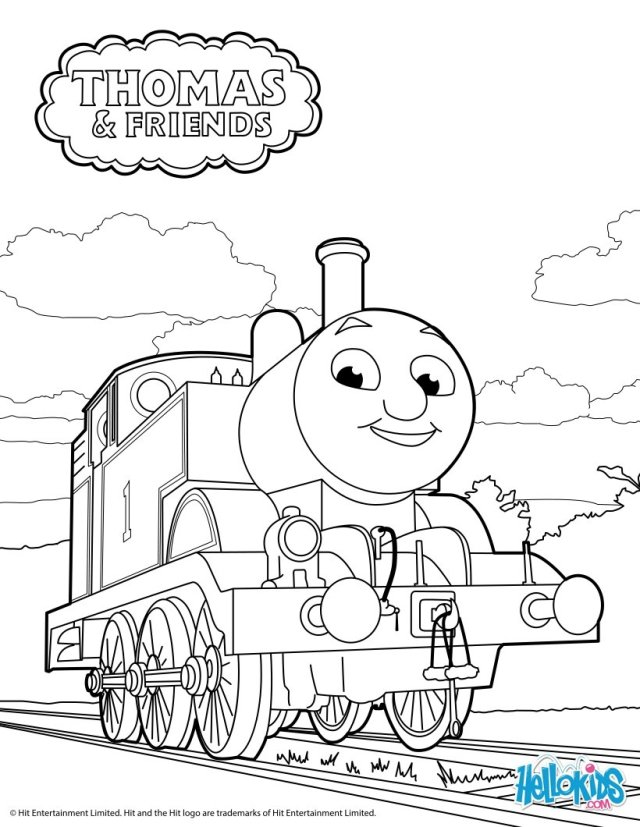 Thomas the tank engine coloring pages - Hellokids.com