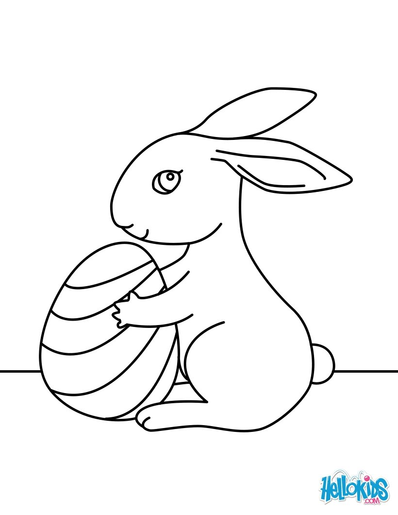 easter coloring pages cute easter bunny
