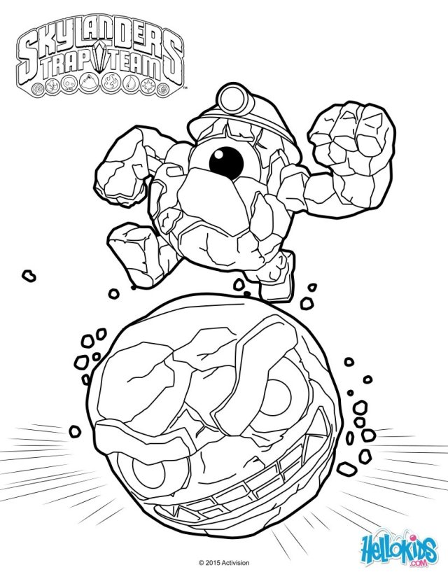 Skylanders: Free coloring pages, games and activities for kids