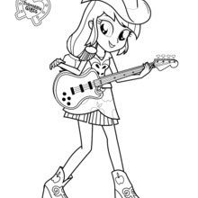 applejack coloring page # 10