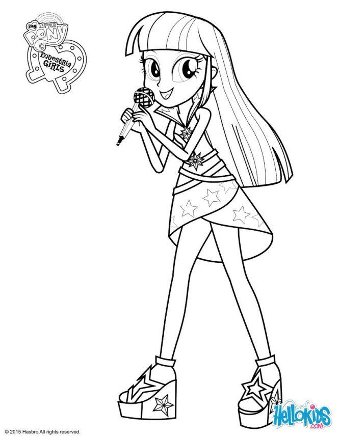Twilight Sparkle Coloring Page Color Online Print My Little Pony The