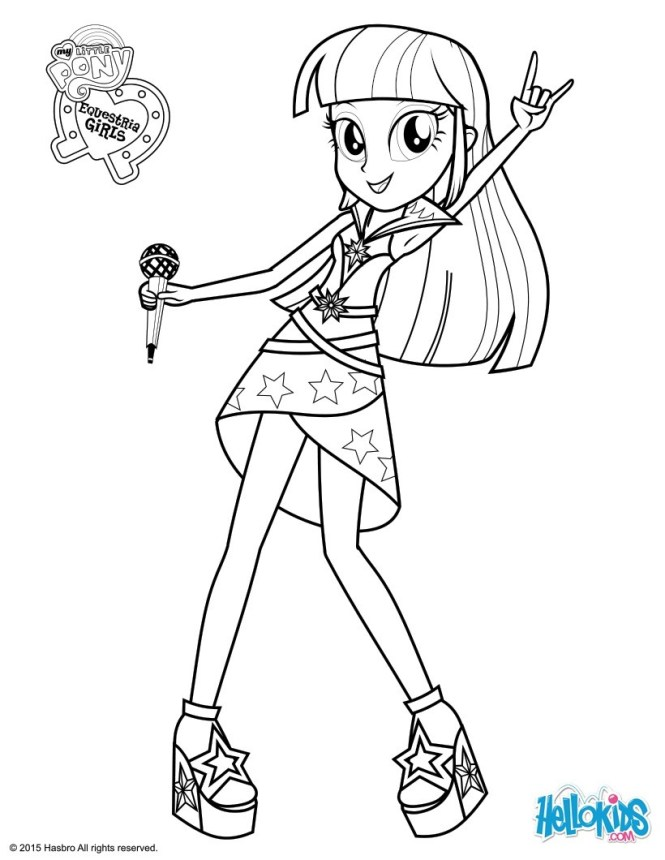 Twilight Sparkle Sings Coloring Page
