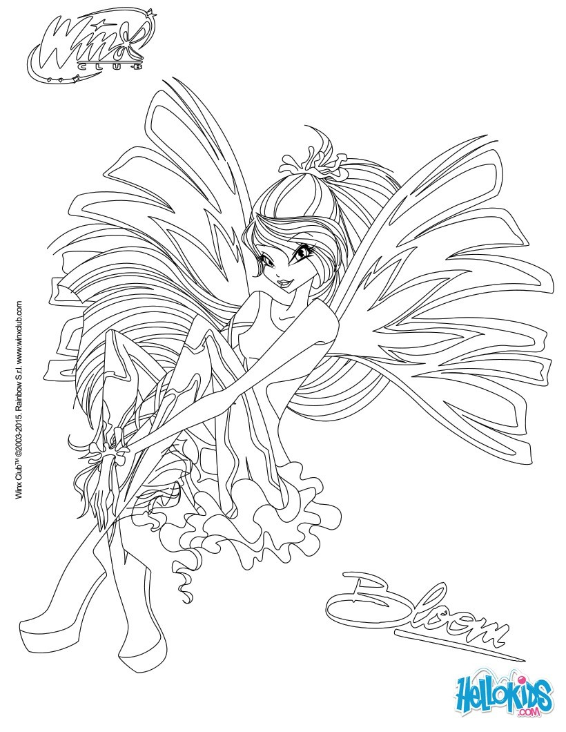 Pages Transformation Club Coloring Sirenix Winx Flora