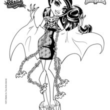 draculaura coloring pages # 2