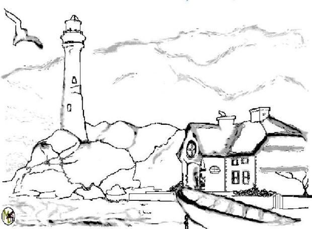 printable countries coloring pages lighthouse