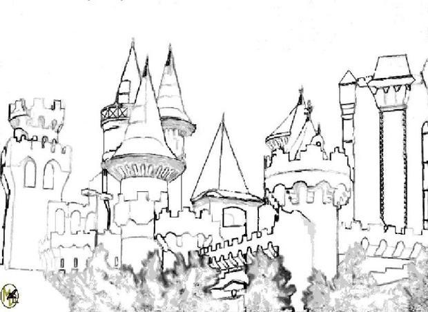 fairy castle coloring pages castle