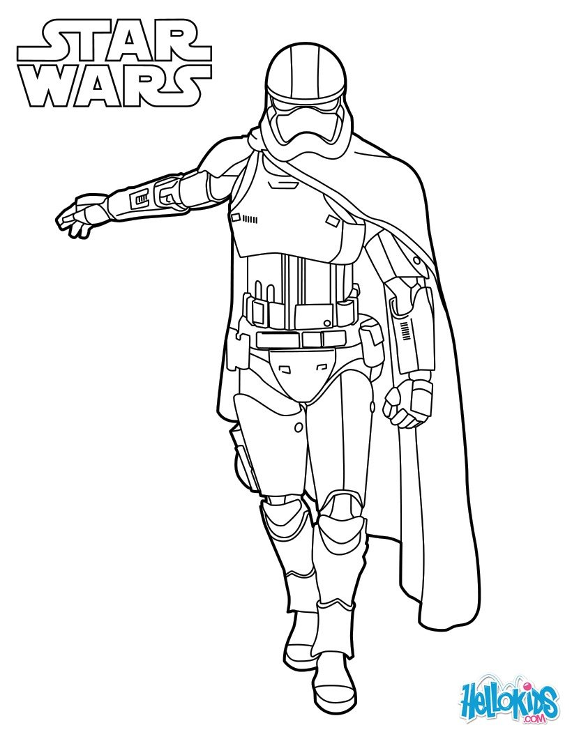 star wars coloring pages capitain phasma star wars