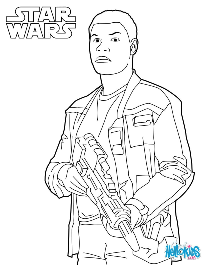 star wars coloring pages finn star wars