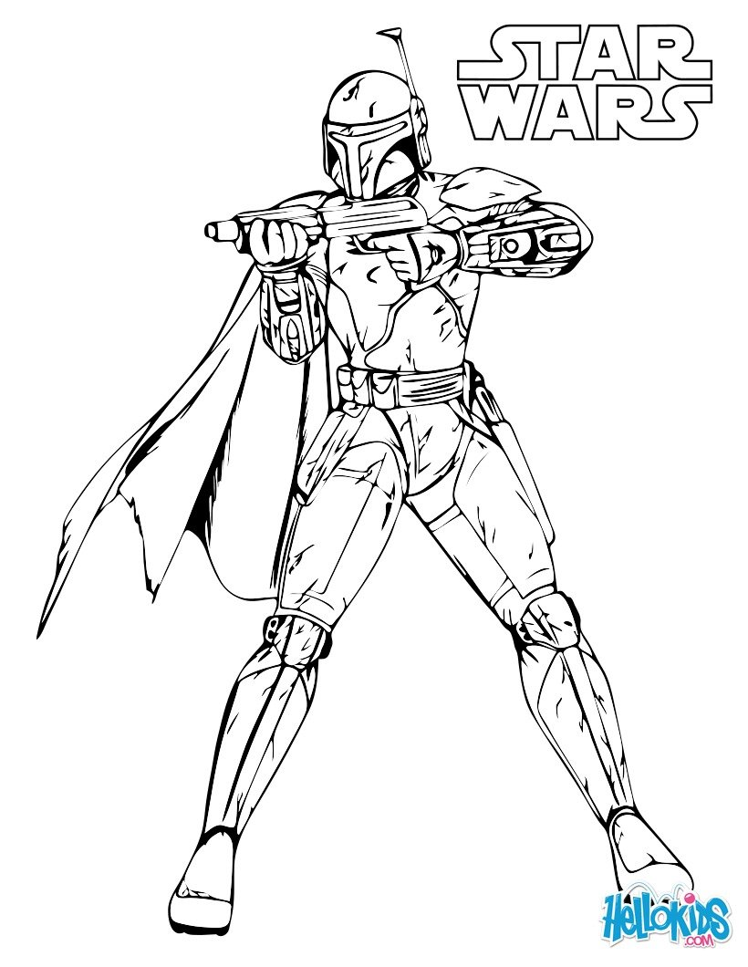 boba fett coloring page