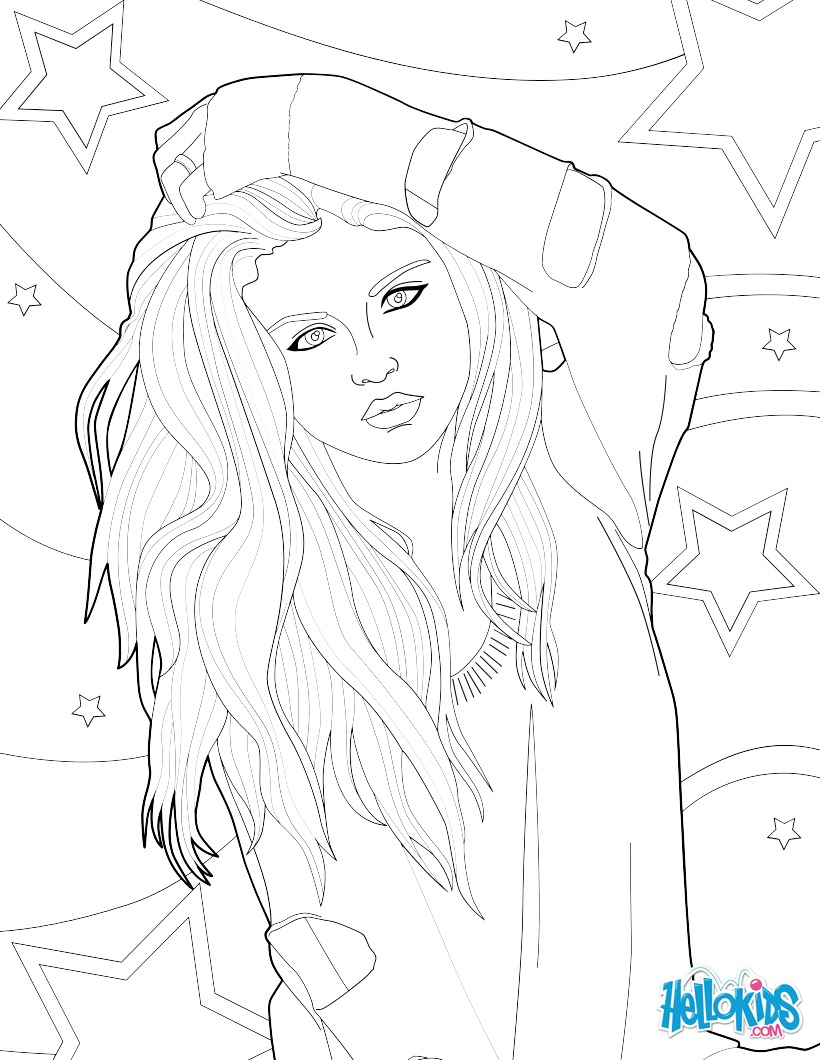 Fantastic Coloring Picture Of Selena Gomez Coloring Pages