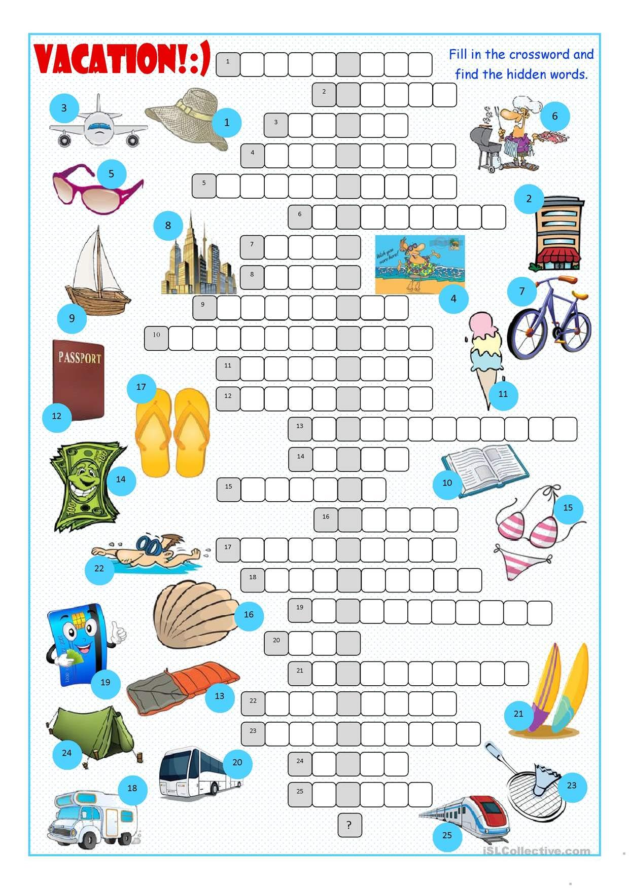 Vacation Crossword Stories To Read