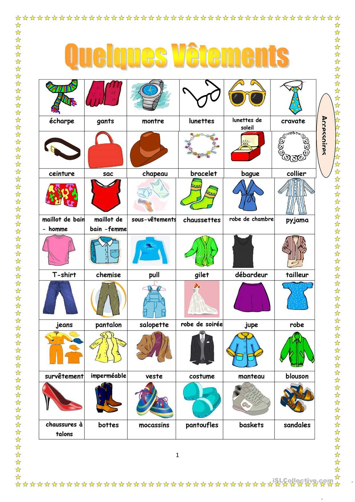 Clothes Vocabulary Stories To Read
