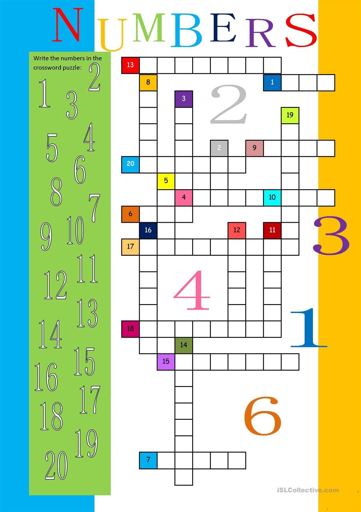 Numbers Crossword 3 Stories To Read