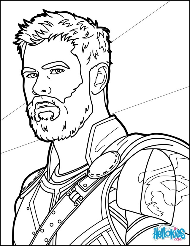 Thor ragnarok coloring pages - Hellokids.com