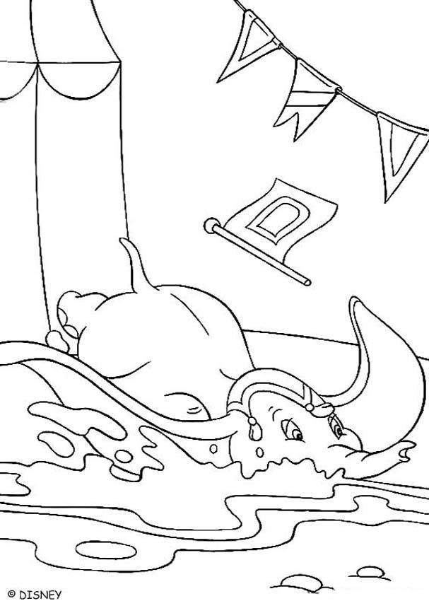 dumbo coloring pages dumbo falls