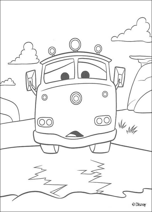 cars coloring pages red the fire truck
