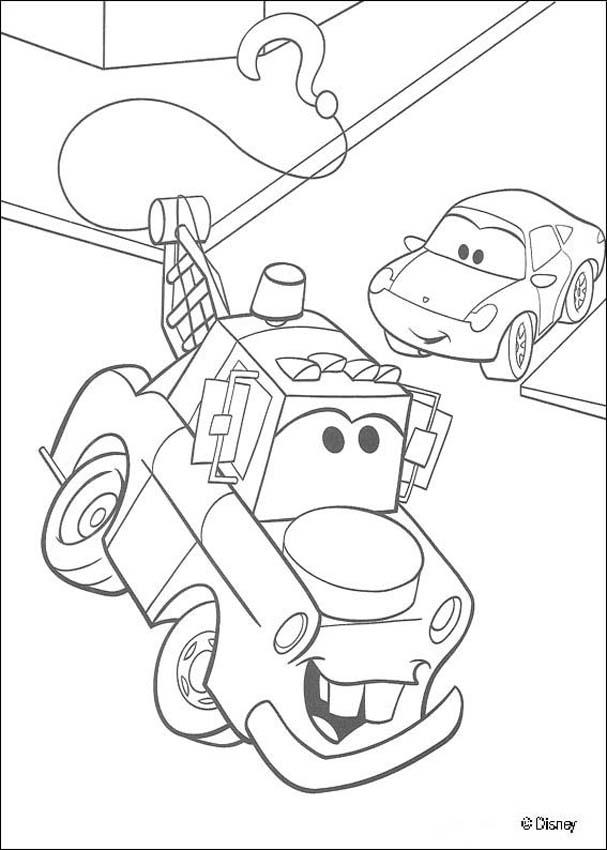 cars coloring pages mater in the street