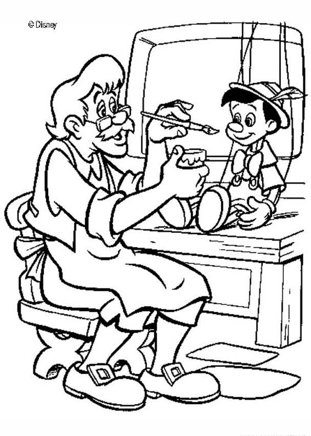 pinocchio coloring pages geppetto 39 s puppet