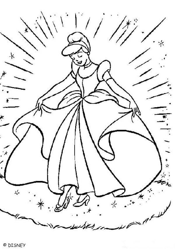 cinderella coloring book pages cinderella 39 s ball gown