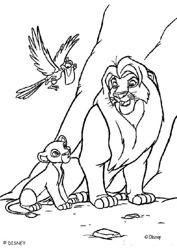 the lion king coloring pages mufasa simba and zazu