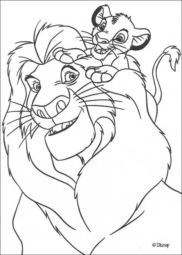 the lion king coloring pages simba with mufasa
