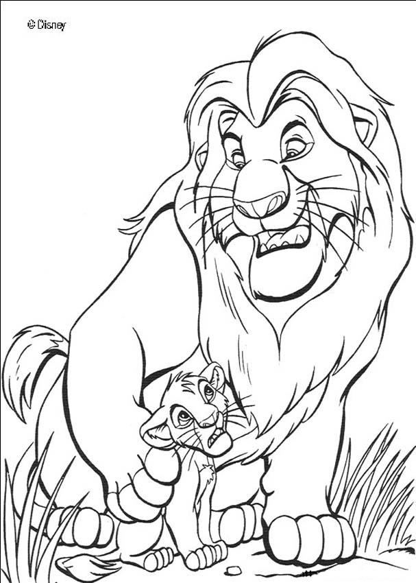 the lion king coloring pages the lion king mufasa and simba