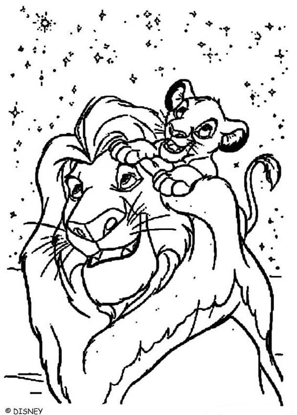 the lion king coloring pages simba and mufasa