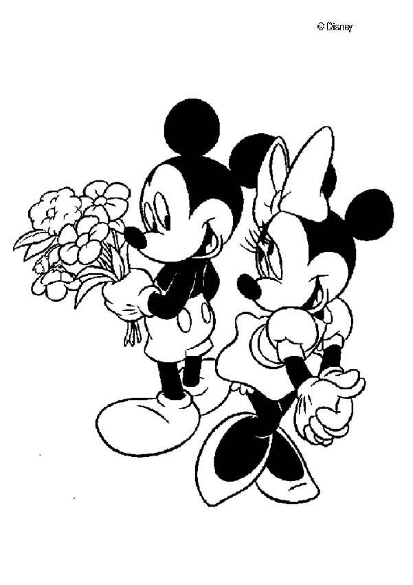 mickey mouse coloring pages mickey mouse and minnie mouse in love