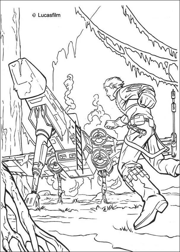 star wars coloring pages luke spaceship on dagobah