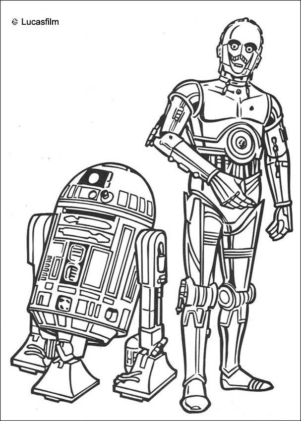 star wars coloring pages r2 d2 and c 3po