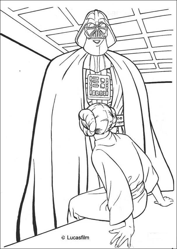 star wars coloring pages darth vader and princess leia