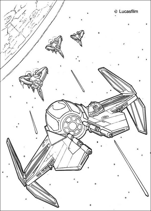 star wars coloring pages spaceships war