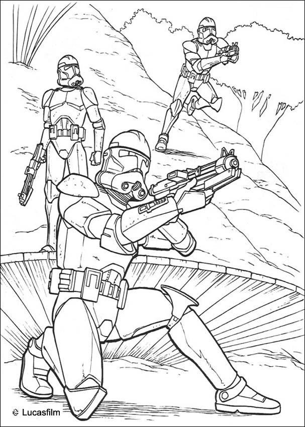 star wars coloring pages clone soldiers running