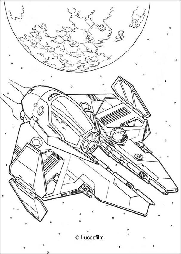 star wars coloring pages spaceship of anakin