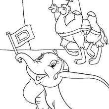 dumbo coloring pages dumbo and the elephant