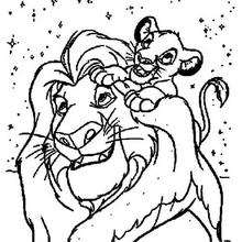the lion king coloring pages simba with zazu
