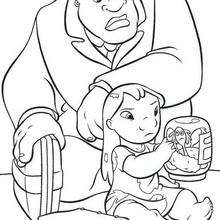 lilo and stitch coloring pages lilo with her sister