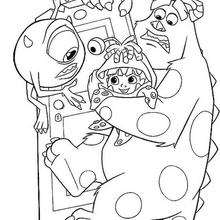 Monster Inc Coloring Pages Monsters Inc Coloring Pages Mike ... | 220x220
