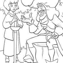 captain hook coloring pages # 14
