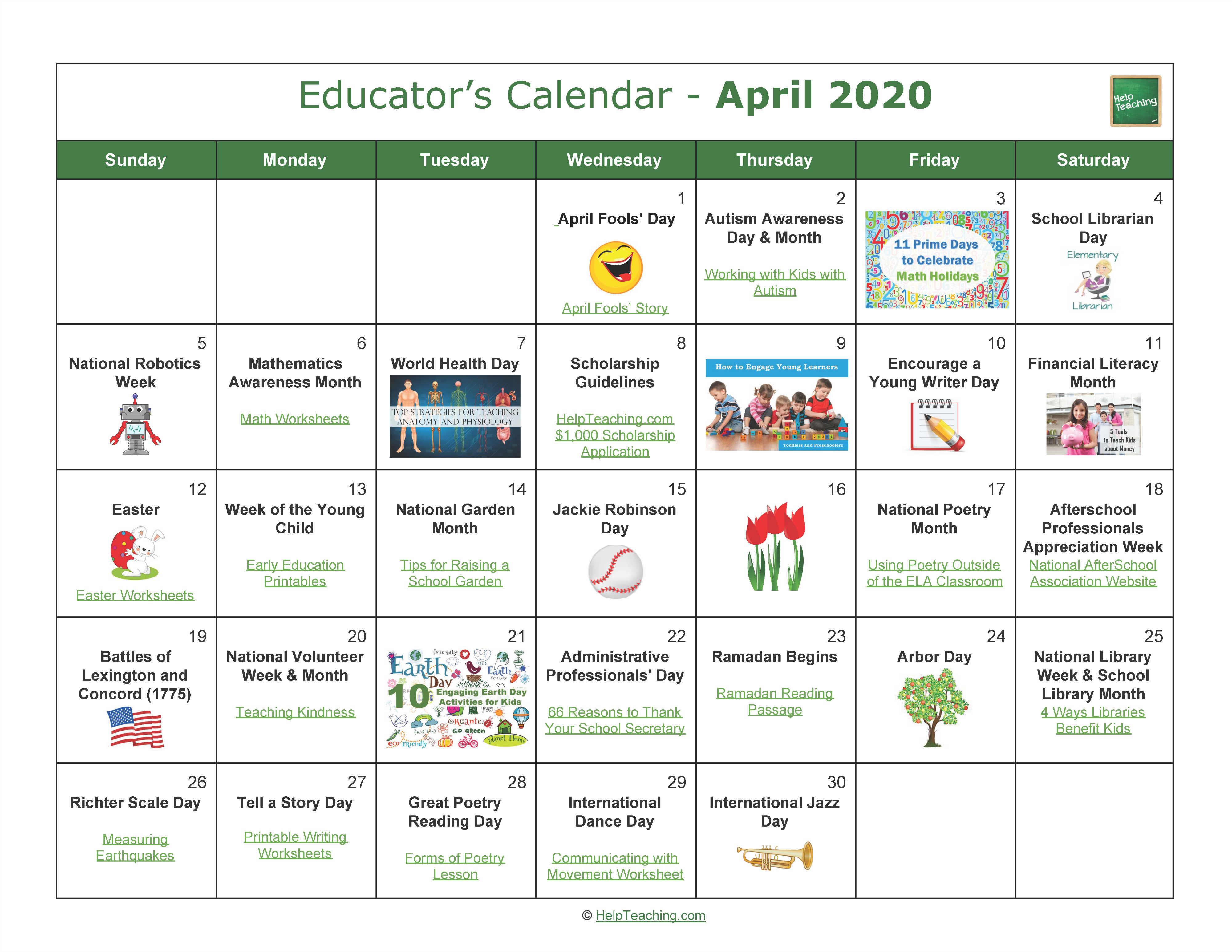Us Educator S Calendar