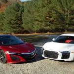 Acura Nsx Vs Audi R8 We Compare Tech Versus Higher Tech