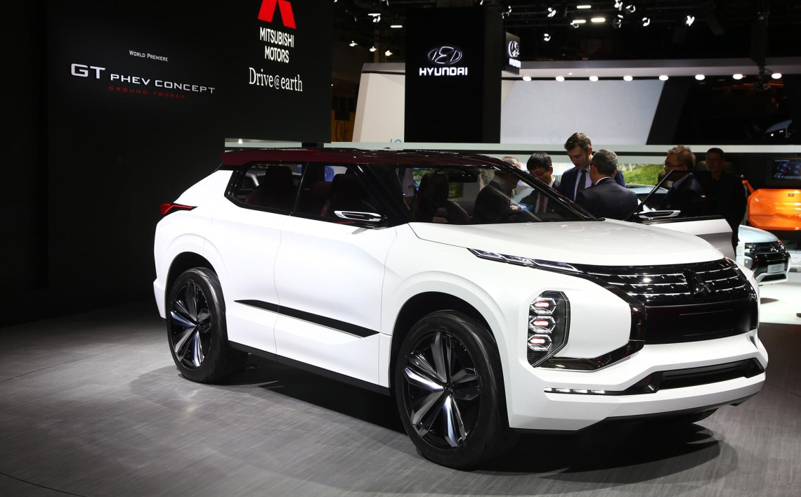 mitsubishi gt-phev concept previews next-gen hybrid tech, suv design