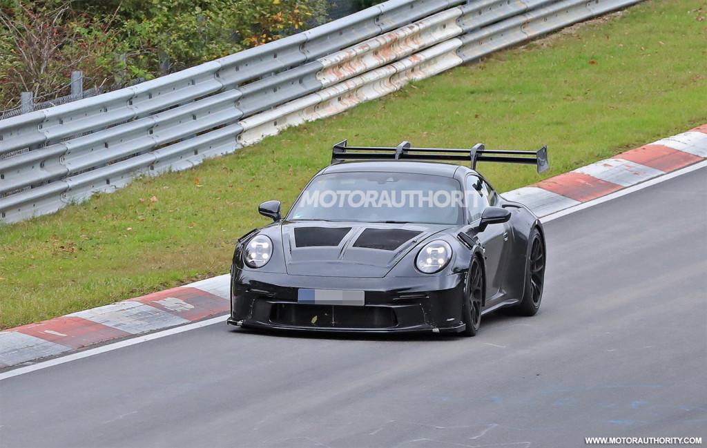 2023 Porsche 911 GT3 RS spy shots - Photo credit:S. Baldauf/SB-Medien