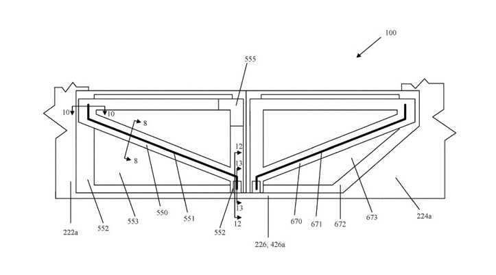 Apple patent for hinge doors without traditional pillar