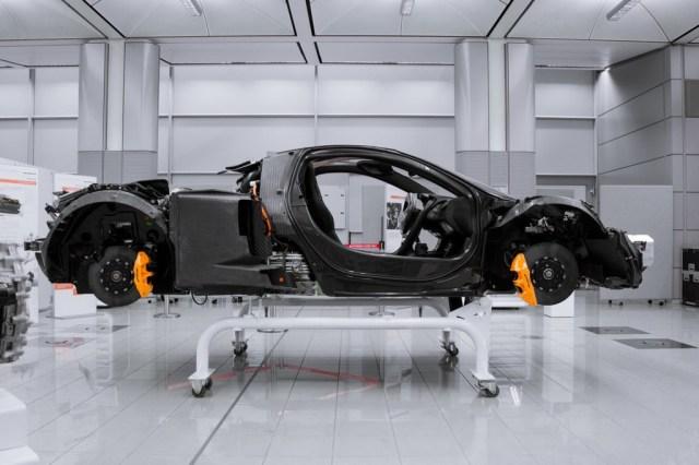 El monocasco de fibra de carbono McLaren P1 MonoCage