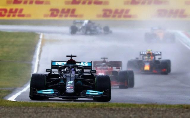 Mercedes-Benz AMG's Lewis Hamilton at the 2021 Formula One Emilia Romagna Grand Prix