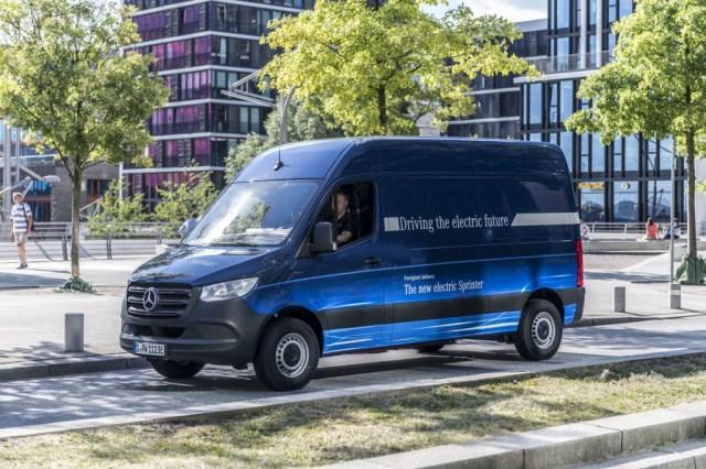 Mercedes-Benz eSprinter electric delivery van in Germany