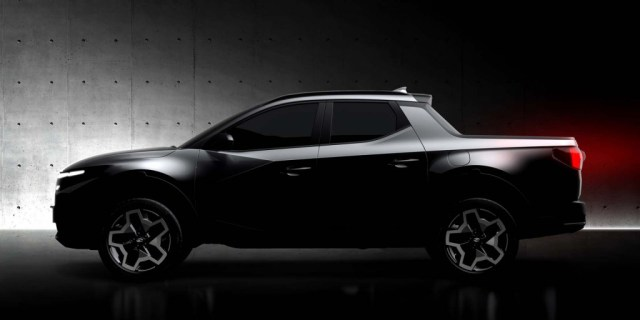 Teaser for 2022 Hyundai Santa Cruz debuting on April 15, 2021