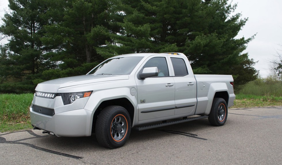 Workhorse W-15 extended-range electric pickup truck