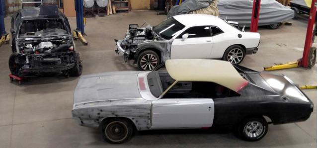 1969 Dodge Charger and 2016 Dodge Challenger SRT Hellcat restomod
